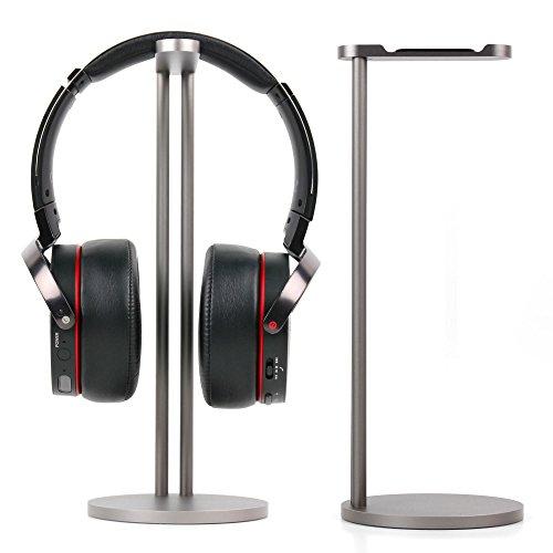 DURAGADGET Support/Pied de Haute qualité en Aluminium Gris pour Sony WH-CH700N, WH-H900NB, Bose Supra-aural, Sennheiser PXC 550, Plantronics Backbeat 505 Casque Audio