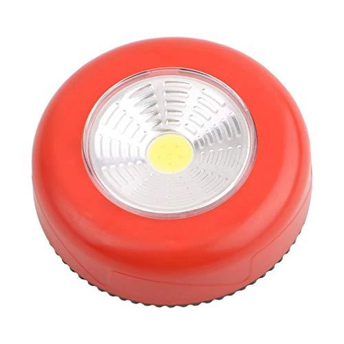 Iluminación LED Debajo del gabinete con Etiqueta Adhesiva Interruptor de Sensor táctil Luz de Golpe Sótano Garaje Rojo Claro Resistente a los Golpes