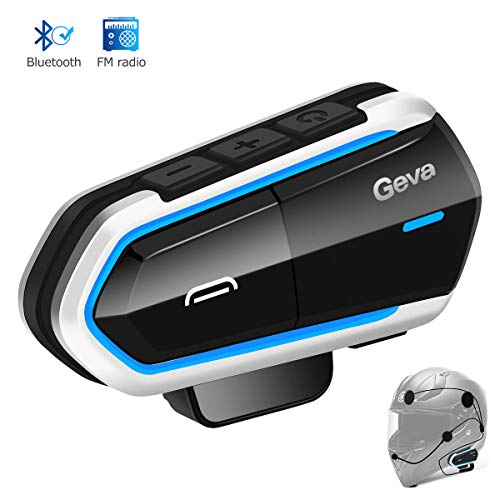 Motorcycle Bluetooth Headset, Geva Helmet Bluetooth Headset, FM Radio/Handsfree Automatic Answer/Accounce Incoming Phone Number/HD Stereo Music