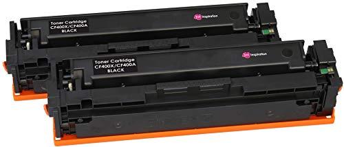 2 INK INSPIRATION® Negro Tóners compatibles para HP Color Laserjet Pro MFP M277dw M277n M274n M252dw M252n   Reemplazo para HP 201X CF400X 201A CF400A 2800 páginas