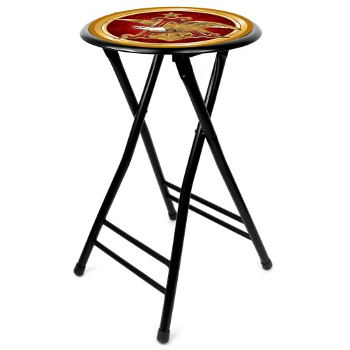 Anheuser Busch Cushioned Folding Stool, 24'
