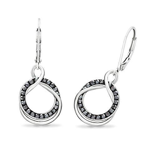 NOELANI Damen Ohrhänger mit Swarovski Kristallen
