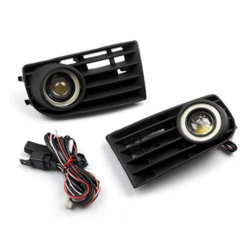 Artudatech - Luz antiniebla para coche, antiniebla, faros antiniebla y rejilla de luz antiniebla para V W Golf 5 MK5 Rabbit 2003-2009