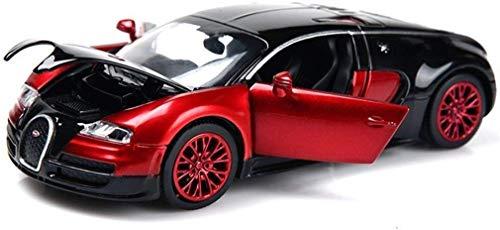 XYSQWZ Modelo De Coche Bugatti Veyron 132 Aleación De Fundición Analógica Sonido Y Luz Tire hacia Atrás Modelo De Coche De Juguete 136x6x4 Cm (Color: C)