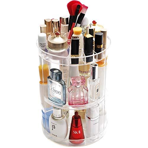 Organisateur cosmétiques 3Layers ronde 360 degrés de rotation Organisateur cosmétiques Affichage de maquillage de stockage Support à bijoux Boîte Parfums Rouge à lèvres Diviseur Container Dresser