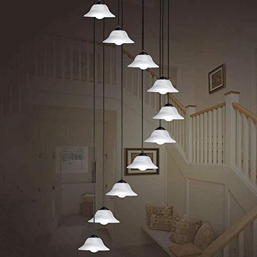 Eastinghouse 10 Kronleuchter Spiralwendeltreppen Spirale Moderne Kronleuchter Für Lampen Baldachin Aufhängung Entlang LED-Kronleuchter, Weiß, Large Format 50X200cm