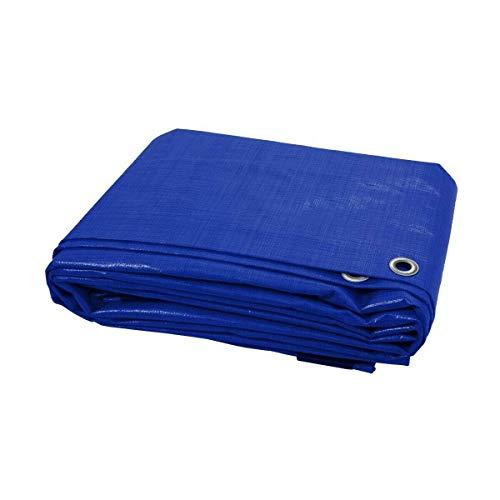 2 x 3 m, blaue Abdeckplane, wasserdichte Mehrzweckplane für Möbel, Wohnwagen