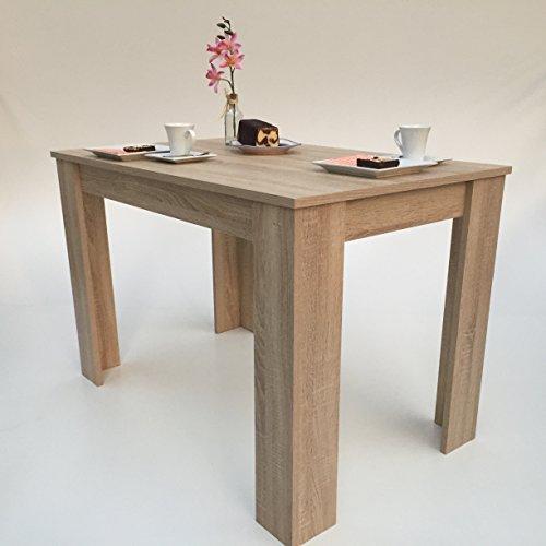 Möbel SD Esszimmertisch Sonoma Eiche Sägerau Hell 110x70