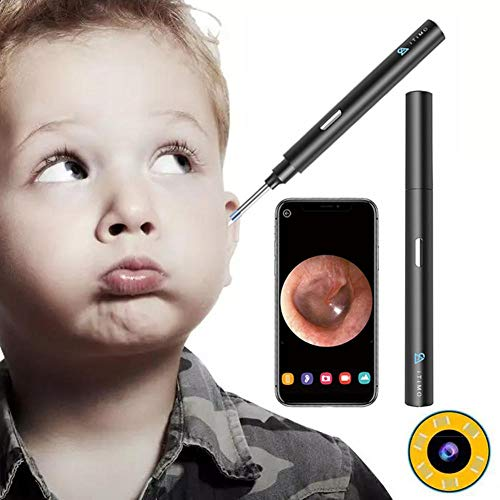 Cleaner HD Spade Ear, WiFi Kit di rimozione della cera  otoroscopio del wifi, otoscopio senza fili  orecchio senza fili di 1080p con luci a 6eled, scope  orecchio