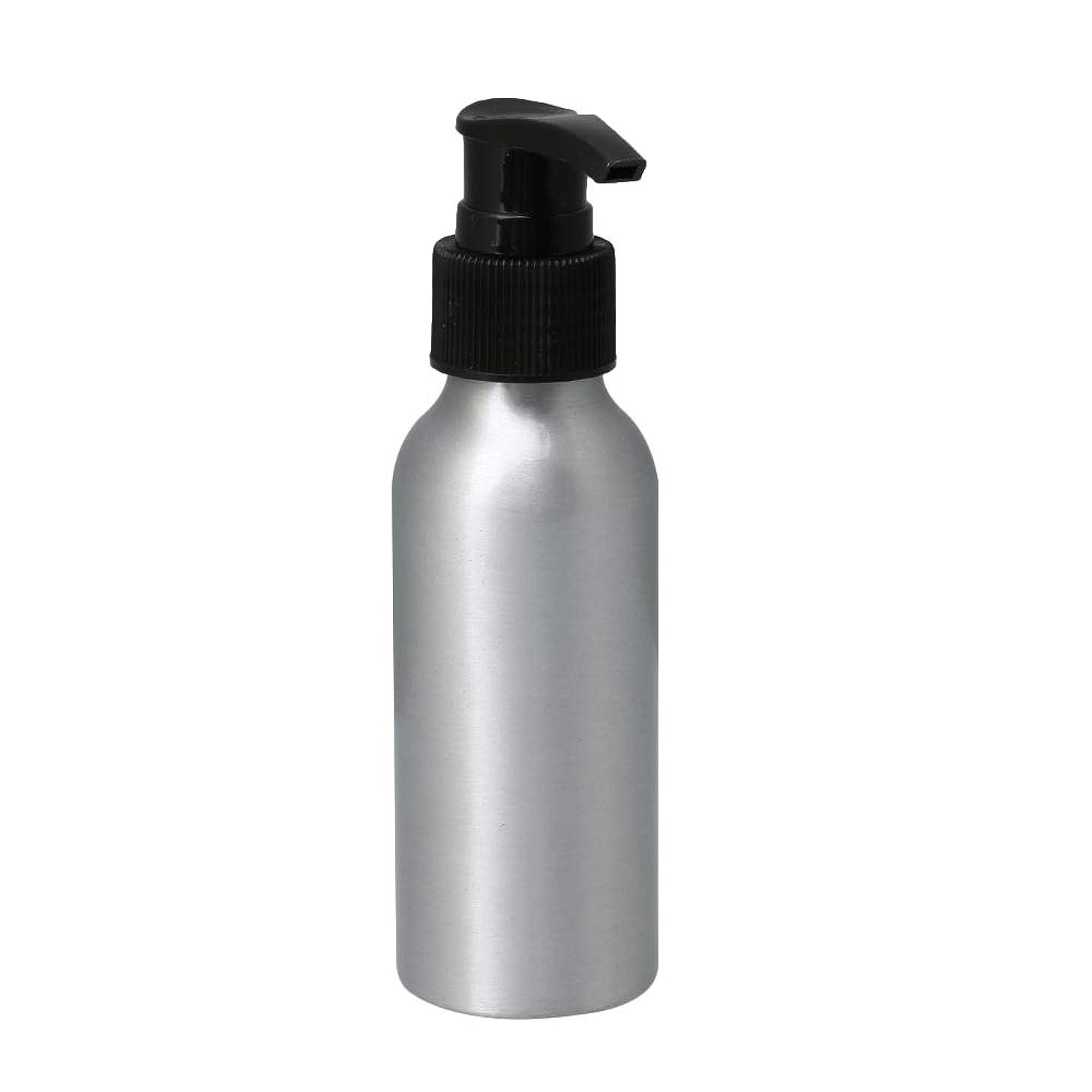 ピーク解体するケープポンプボトル 100ml コスメ用詰替え容器 詰め替え用ボトル アルミボトル 繰り返し使用 噴霧器 アルミボトル 黒ポンプヘッド