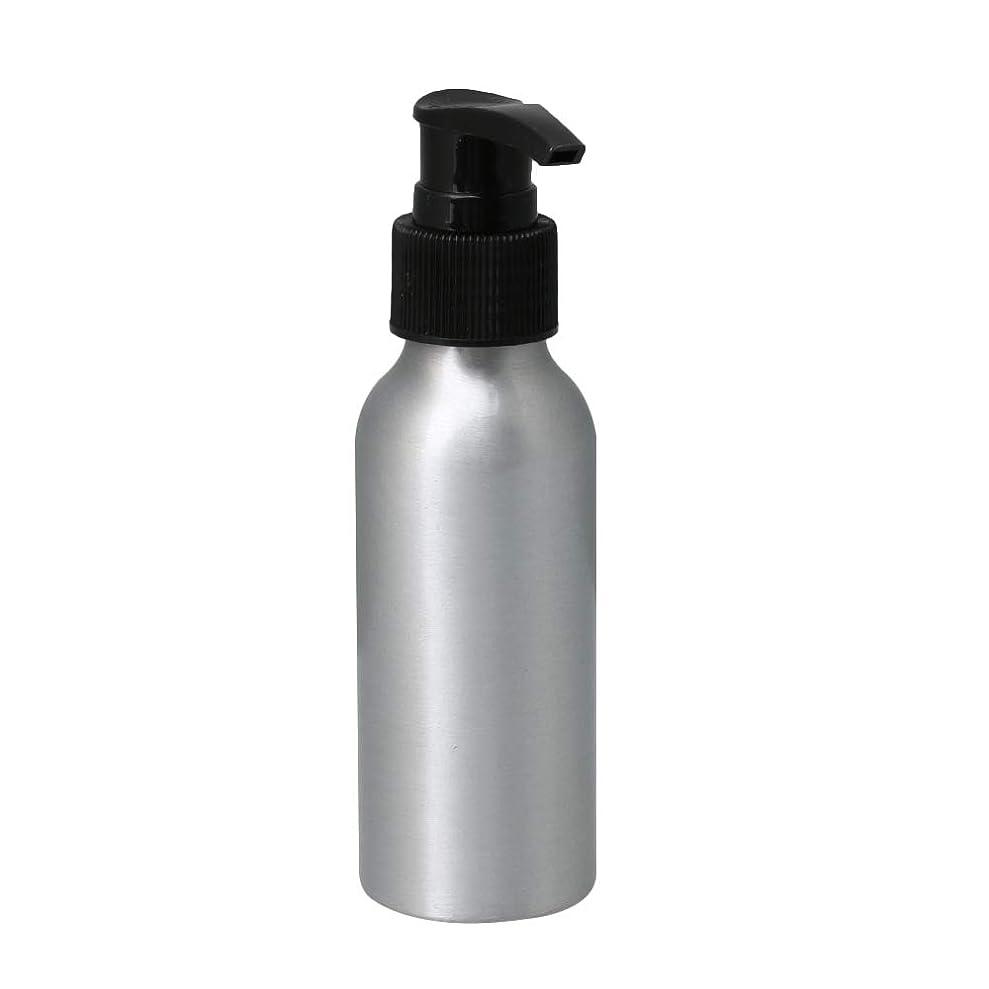 考古学者高める狂気ポンプボトル 100ml コスメ用詰替え容器 詰め替え用ボトル アルミボトル 繰り返し使用 噴霧器 アルミボトル 黒ポンプヘッド
