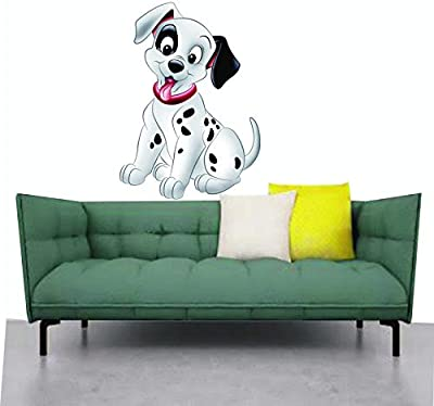 Madhuban Décor Cute Pet Dog Wall Sticker for Home Living Room Décor(44x60cm)