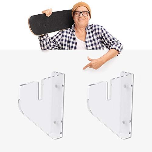 per Soportes Pared para Skateboard Transparentes Colgador Multifuncionales Murales para Monopatín Estanterías de Almacenamiento para Tablas de Snowboard