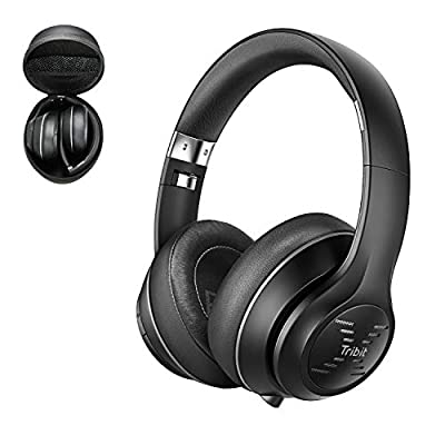 Bluetooth Headphones Over Ear, [40h Playtime] Tribit XFree Tune Wireless Headphones with Hi-Fi Stereo Sound & Rich Bass, Comfortable Headphones with Microphone & Foldable[The Cnet's Choice] by Tribit