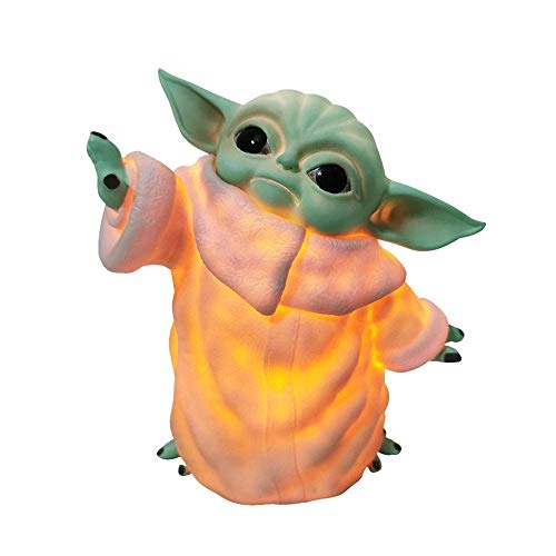 Anime Figuren Yoda Baby Star Wars Sammler PVC Statue Die Child Animatronic Edition Model Doll Das mandalorianische Spielzeug Kinder with Night Light