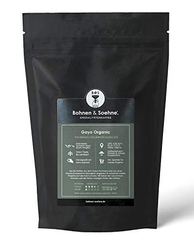 BOHNEN & SOEHNE® Gayo Organic - Bio Kaffee & Direct Trade - Fairtrade Zertifiziert- Nussiges & Süsses Aroma - Variabler Mahlgrad (250g)