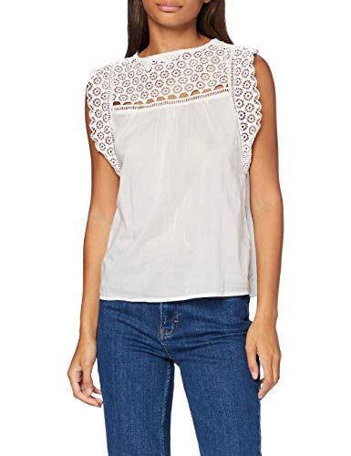 Levi's Charlie Top Blusa, Blanco (Cloud Dancer 0000), Large para Mujer