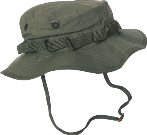 Boonie Hat Chapeau Brousse Jungle US Army Commando Trooper - Coloris Kaki - Taille Large - Airsoft - Paintball - Chasse - Pêche - Randonnée - Outdoor