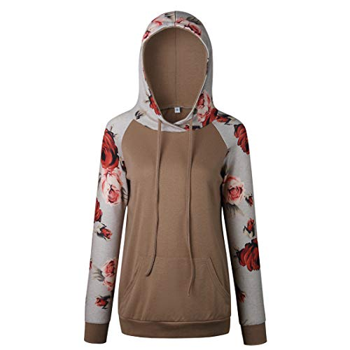 Damen Hoodie Langarm Casual Sweatshirt Herbst Winter Hooded Sweatshirt Bequeme...