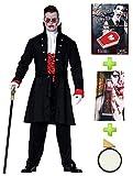 Disfraz de Vampiro Gotico con set de caracterizacion