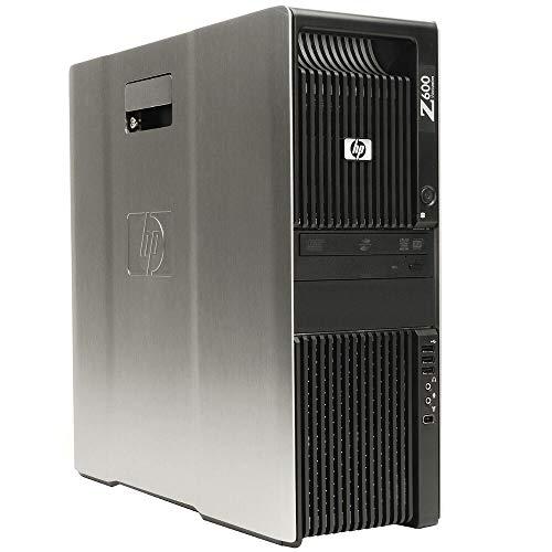 HP Z600 Workstation Tower - 2 x Intel Xeon 4Core Processor E5504, RAM 12 GB, HDD 500 GB, SSD 240 GB, DVD, NVIDIA Quadro 600. Win 10 Pro (reacondicionado certificado)