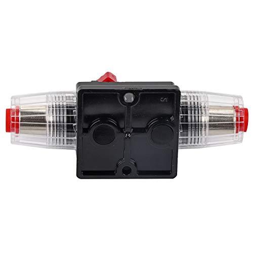 KUIDAMOS Portafusibles de 60 A, Buena conductividad eléctrica Disyuntor de reinicio Portafusibles para Motores Marinos de Pesca por curricán Barco para ATV Alimentación Manual 12-24 V(80A)