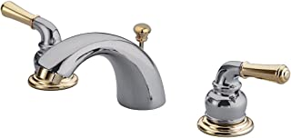 Kingston Brass KB954 Magellan II 4-Inch to 8-Inch Mini Widespread Lavatory Faucet with Metal lever handle, Polished Brass,...