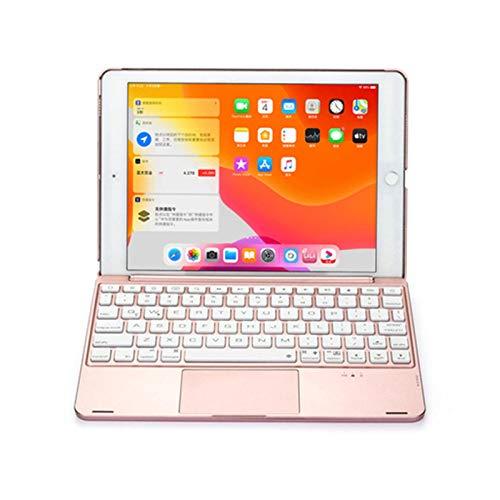 NVFED Funda para teclado inalámbrico con retroiluminación Bluetooth para iPad Pro 11 2020 2018 (color: oro rosa, tamaño: para iPad Pro de 11 pulgadas)