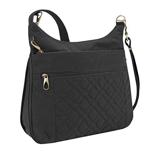 Travelon Anti-Theft Signature Quilted Expansion Crossbody, Black, One Size