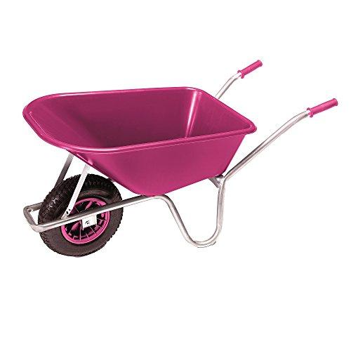 PRO-BAU-TEC Gartenkarre Schubkarre Schiebkarre 100l Liter PP Mulde Pink **NEU**