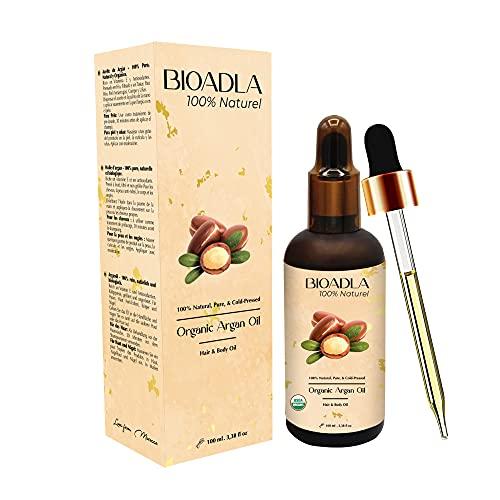 Aceite de Argán Orgánico, 100% Puro, Natural, Prensado en Frio | Cabello, Barba, Piel, Cuerpo y Uñas | Cuidado Hidratante Antiarrugas | Botella de Vidrio | Cosmetica Natural