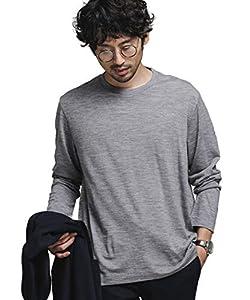 [ナノユニバース] ITALY WOOL ドレス Tシャツ 長袖 メンズ