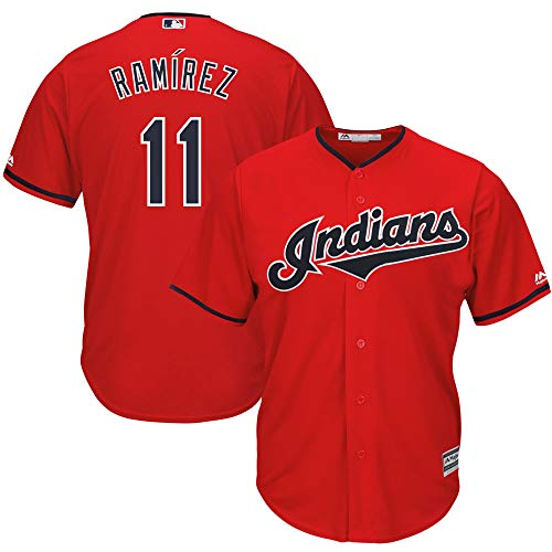 Jose Ramirez Cleveland Indians Red Youth 8-20 Cool Base Alternate Replica Jersey (18-20)