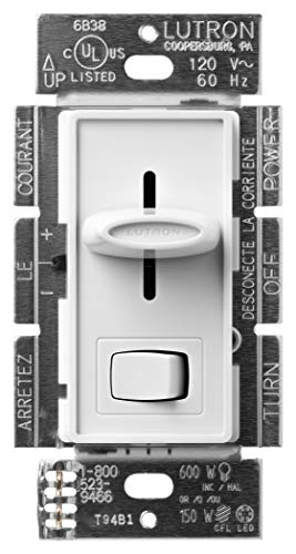 Lutron Skylark LED+ Dimmer Switch for Dimmable LED, Halogen and Incandescent Bulbs | Single-Pole or 3-Way | SCL-153P-WH | White