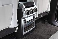 適合ランドローバーディスカバリー 5 LR5 2017 2018 車のabsマットクロームアームレスリアacコンセントベントカバートリム
