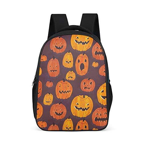 Zaino Halloween zucca modello Bookbag resistente all'acqua Daypack borsa da lavoro per ragazzi ragazze, (Grigio brillante.), Taglia unica