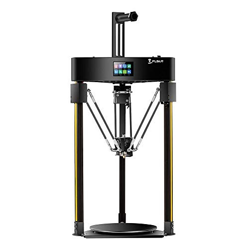 3D printer FLSUN Q5 Delta 3D Printer 200x200mm Printing Size Auto-Leveling Touch Screen Lattice Glass Platform zys