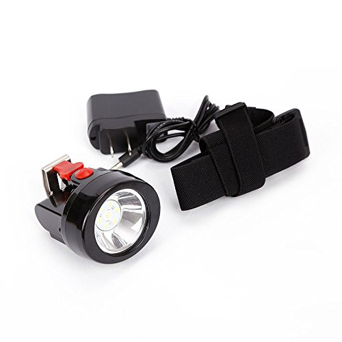 Mining Light Rechargeable Headlamp Lamp Miners LED Headlamps Flashlight KL2.8LM Camping Lights for Night Running Fishing Hunting Waterproof Explosion-Proof(Red)