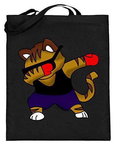 Dabbing Cat Kitty Kitten Cats Dab zonnebril - eenvoudig en grappig design - jute zak (met lange handvatten)