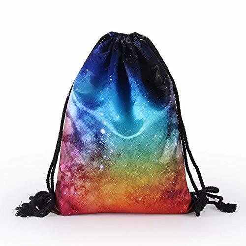 Nv Wang Sac à Dos,Toile Sac De Cordon Imperméable Unisexe pour Piscine Plage Backpack Gym Sac Sac Et Outdoor Randonnée Voyage Imprimé Drawstring Bag