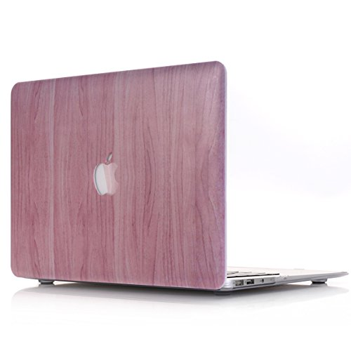 MacBook Pro 13 inch Case A2338 M1 A2251 A2289 A2159 A1989 A1706 A1708, PapyHall Wood Grain Plastic Hard Shell Case for MacBook Pro 13' with/Without Touch Bar Touch ID 2020-2016 Release, Wood Pink