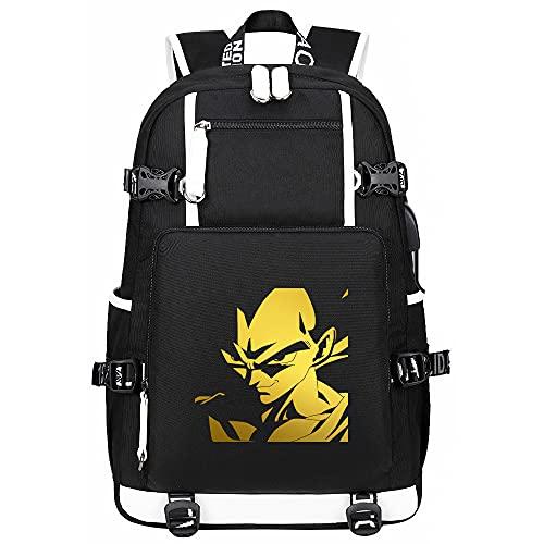Anime Dragon Ball USB Backpack Mochilas Escolares Mochila Hombres Mujeres Viajes Laptop Bolsas De Hombro Regalo Negro