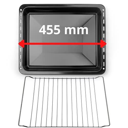 UD Uniq Dealz - Bandeja y rejilla para horno compatible con Bosch/Siemens/Constructa/Neff BSH 675876 y 662999 / Balay/Profilo/Samsung/Compaje/Teka/Beko (455 x 370 x 31 mm)