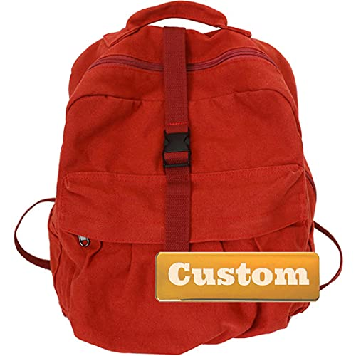 Nome personalizzato Escursionismo Daypack per uomo Lightweight Travel Backpack Business Casual Kid (Color : Red, Size : One size)