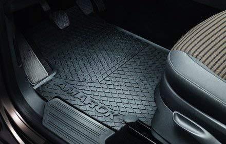 Original Volkswagen Gummi Fußmatten Set VW Amarok 4-teilig vorn+hinten schwarz...