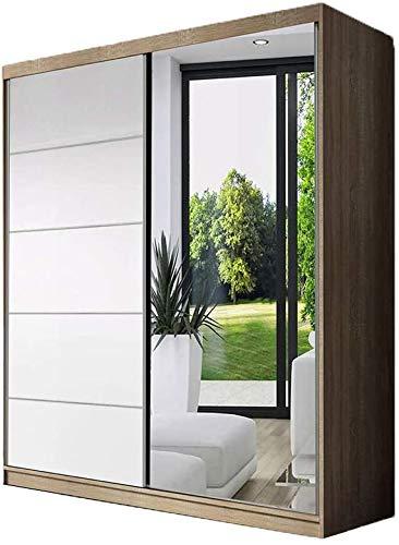 Modo moderno elegante con armadio a porta scorrevole a specchio armadietto armadio/porta scorrevole Guida in alluminio Scaffale e coda,E