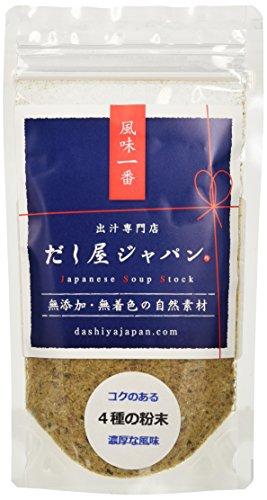 4種の粉末(さば・かつお・あじ・いわし) 60g コクのある味わい お味噌汁・炒め物など 無添加 天然だし 国産