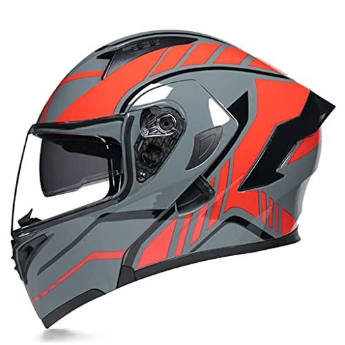 Modular Casco Integral para Motocicleta, Four Seasons con Visera Doble Motocross Street...