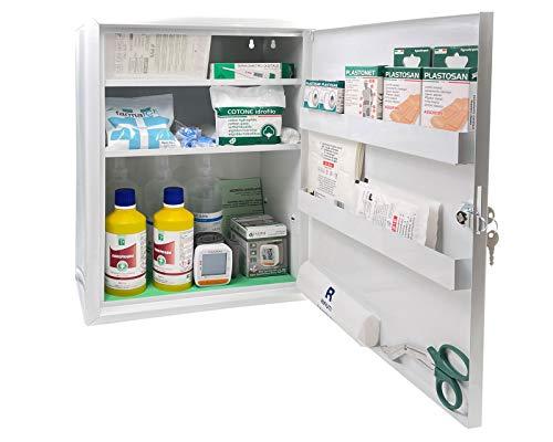 ARMADIETTO DIGIT PLUS allegato 1 CON MISURATORE DI PRESSIONE DIGITALE cassetta medica primo pronto soccorso oltre 3 dipendenti