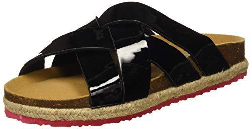 PAEZ Sandal Cross Spark, Sandalias con Punta Abierta para Mujer, Negro (Negro 001), 38 EU